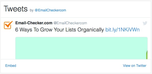 Email-Checker on Twitter
